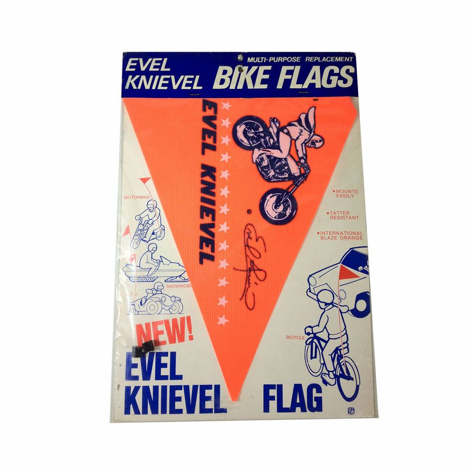 Vintage Evel Knievel Bike Bicycle Flag BMX MX Collectors Antique Toy 70s 80s NOS - Radius Bike