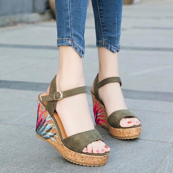 Bohemian Women's Wedge Sandal - Bohemian Moon Boutique