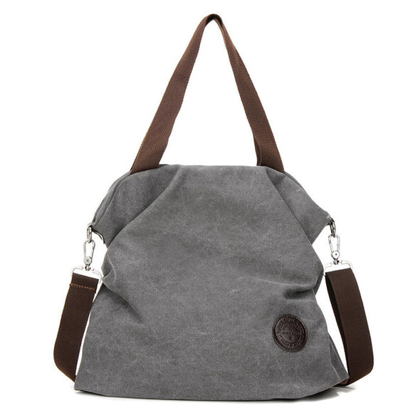Boho Handbags Designer Canvas Slouch Bag - Bohemian Moon Boutique