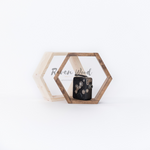 Handmade Geometric Hexagon Shelf - Bohemian Moon Boutique