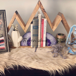 Handmade Geometric Mountain Shelf - Bohemian Moon Boutique
