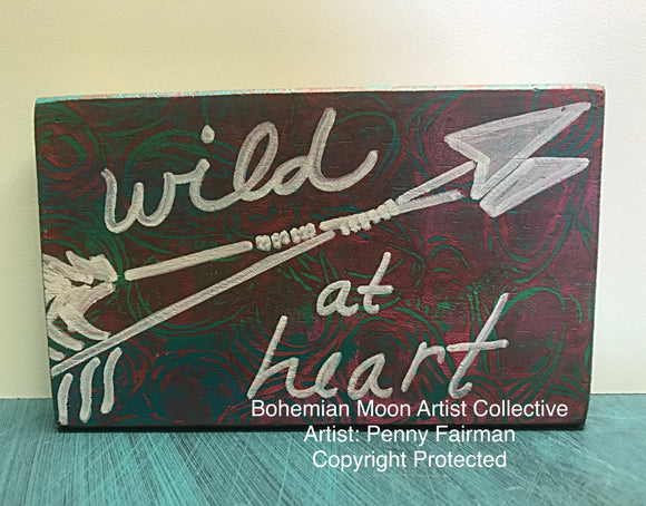 Tiny Art-Wild At Heart - Artist Penny Fairman - Bohemian Moon Boutique