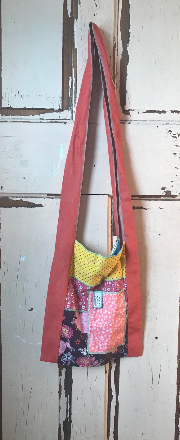 Boho Hippie Patchwork Crossbody Tote - Bohemian Moon Boutique