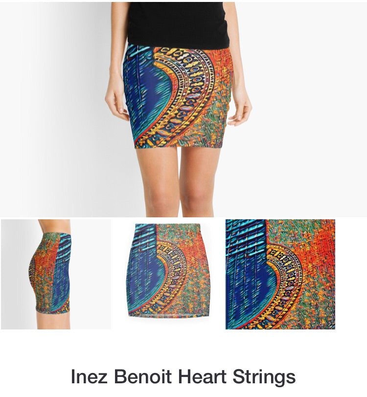 Heart Strings Artisan Mini Skirt - Bohemian Moon Boutique
