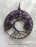Handmade Wire Wrapped Gemstone Tree Of Life - Bohemian Moon Boutique