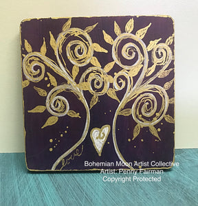 Tiny Art - Love Tree - Artist Penny Fairman - Bohemian Moon Boutique