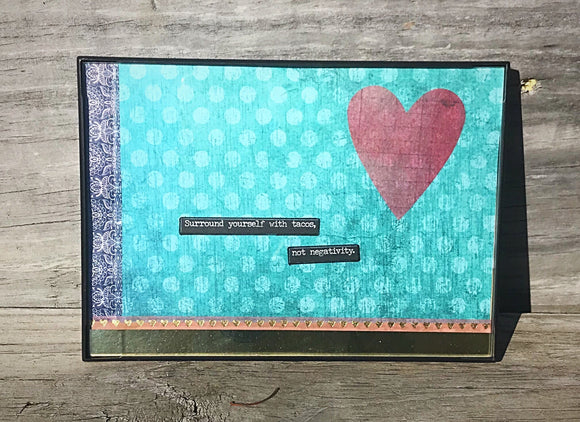 Surround Yourself With Tacos Original Mixed Media Framed Art Piece - Bohemian Moon Boutique