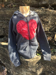 Big Heart Childrens Upcycle Hoodie - Bohemian Moon Boutique