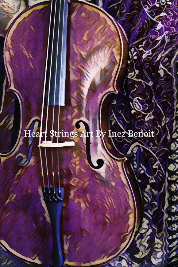 Heart Strings By Inez Benoit-Violet Cello