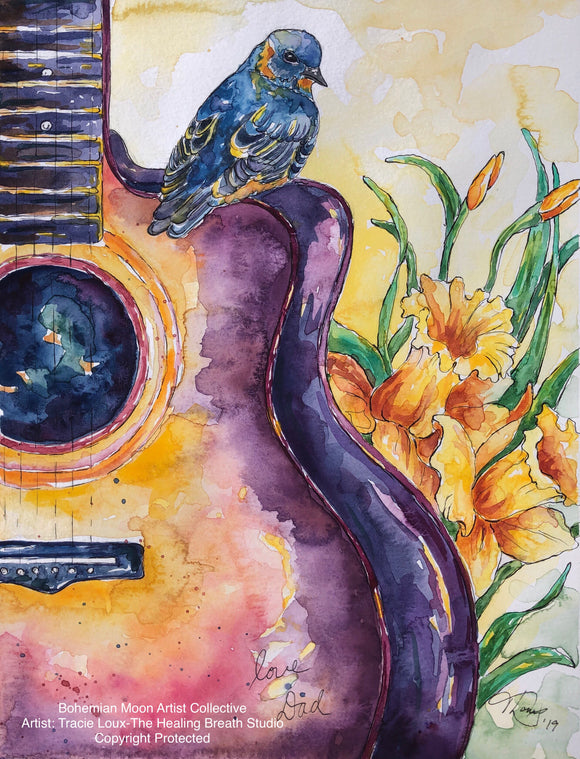 Art Print - Song of A Father - Bohemian Moon Boutique