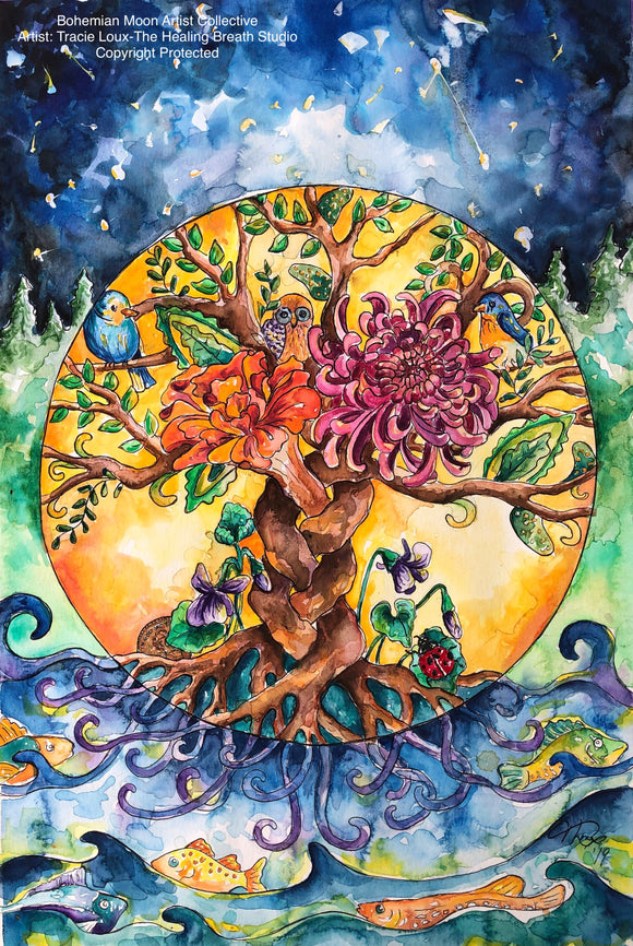 Art Print - The Tree of Life - Bohemian Moon Boutique