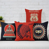 Southwest Wanderlust Indian Motorcycle Inspired Cushion/Pillow Case - Bohemian Moon Boutique