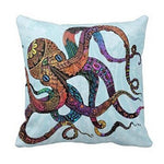 Colorful Octopus Pillow Case Cushion Cover