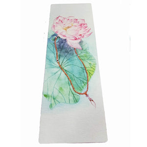 Lotus Natural Rubber Mat Eco-friendly Yoga Mat - Bohemian Moon Boutique