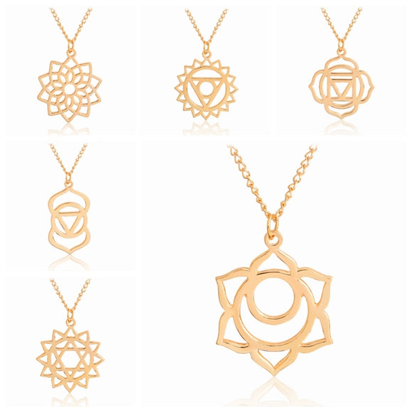 Beautiful Yoga Jewelry Chakra Symbol Necklaces - Bohemian Moon Boutique