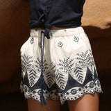 Women Summer Lace Embroidery Bohemian Casual Shorts - Bohemian Moon Boutique