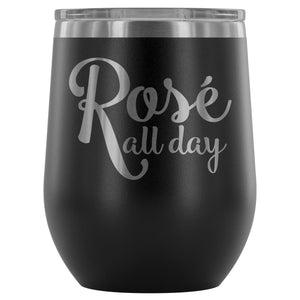 Rose All Day 12oz Stemless Wine Tumbler - Bohemian Moon Boutique