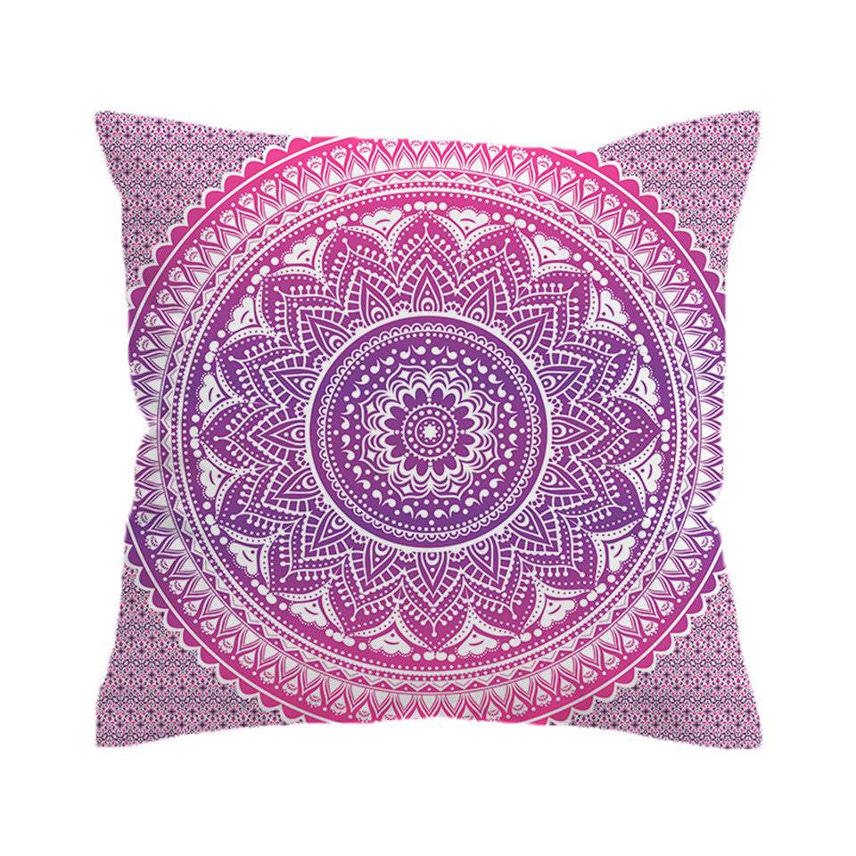 Mandala Lotus Pillow Cover