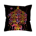 Boho Tree of Life Elephant Pillow Cover