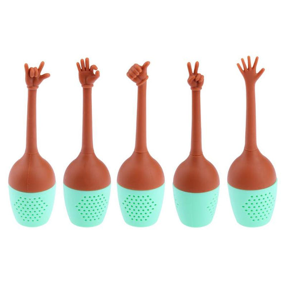 Hand Gestures Tea Infuser Loose Leaf Herbal Spice Tools - Bohemian Moon Boutique