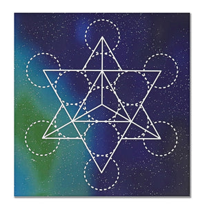 50 x 50 cm Large Crystal Grid Cloth Sacred Geometry Beautiful Healing Decor - Bohemian Moon Boutique