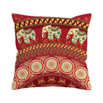 Indian Elephants Pillow Cover