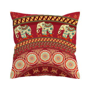 Indian Elephants Pillow Cover - Bohemian Moon Boutique