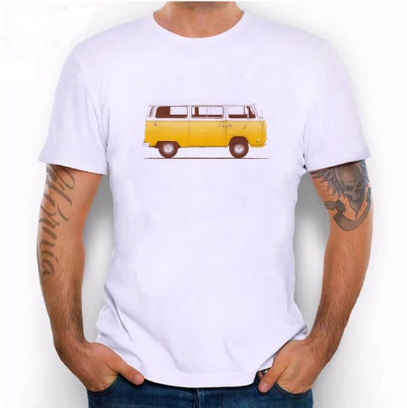 Men Yellow VW Hippie Bus T-Shirt Casual T Shirts Men Tops Unisex Clothing Tees Tshirt Shirt - Bohemian Moon Boutique