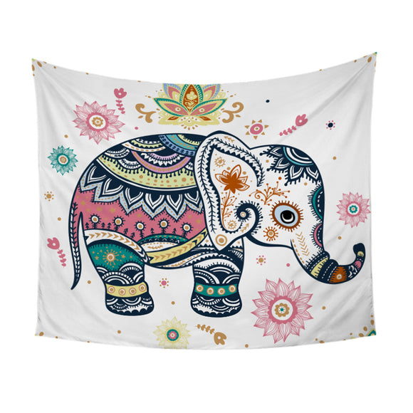 Rainbow Mandala Elephant Tapestry - Bohemian Moon Boutique
