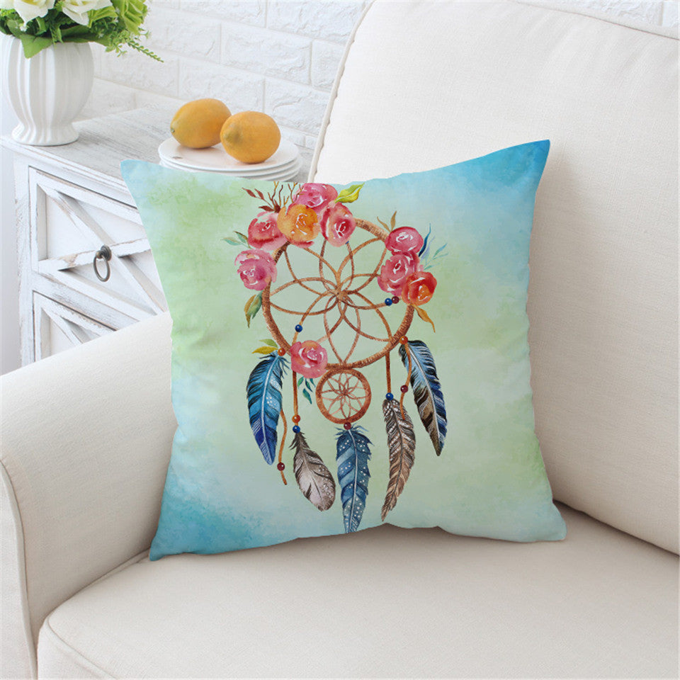 Boho Dream Catcher Pillow Cover