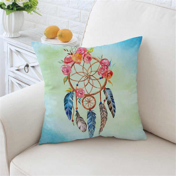 Boho Dream Catcher Pillow Cover - Bohemian Moon Boutique