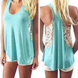 Women Summer Lace Tank Tops - Bohemian Moon Boutique