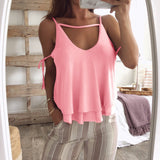 Women's Sleeveless Solid Color Sexy Cami