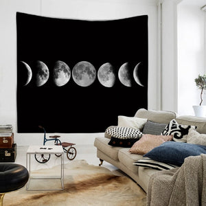 Moon Tapestry Wall Hanging Picnic Throw - Bohemian Moon Boutique