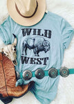 Wild West Buffalo Tee, T-Shirt, Vintage Western, Cowgirl Collection