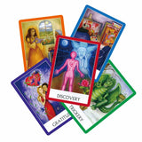 English meditation oracle cards deck, 49 cards, guidance for personal use tarot cards - Bohemian Moon Boutique