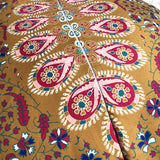 Large Mandala Floor Pillows Round Bohemian Meditation Cushion Cover Ottoman Pouf - Bohemian Moon Boutique