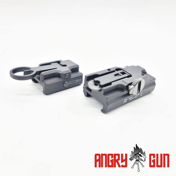 HK STYLE FRONT & REAR SIGHT SET FOR UMAREX HK416 SERIES