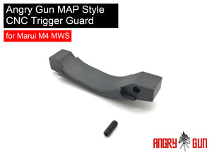 ANGRY GUN MAP STYLE CNC TRIGGER GUARD FOR MARUI M4 MWS