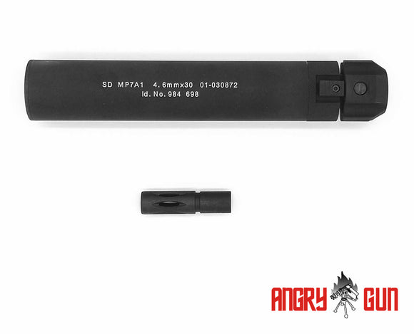 ANGRY GUN MP7 QD DUMMY SILENCER FOR MP7 GBB - GEN2 Version KSC KWA VFC UMAREX MARUI