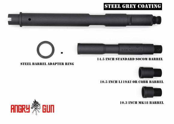 Angry Gun Milspec Outer Barrel set for Tokyo Marui M4 GBB MWS 2018 Version