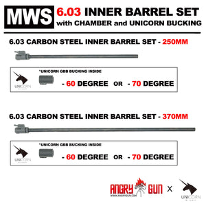 MWS 6.03 CARBON STEEL INNER BARREL SET (With Chamber Set & Bucking)