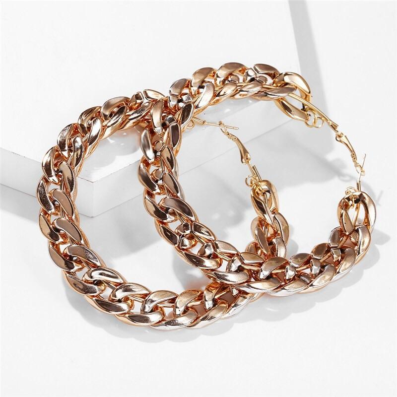 Chain Gang Hoops - Bonafide Glam