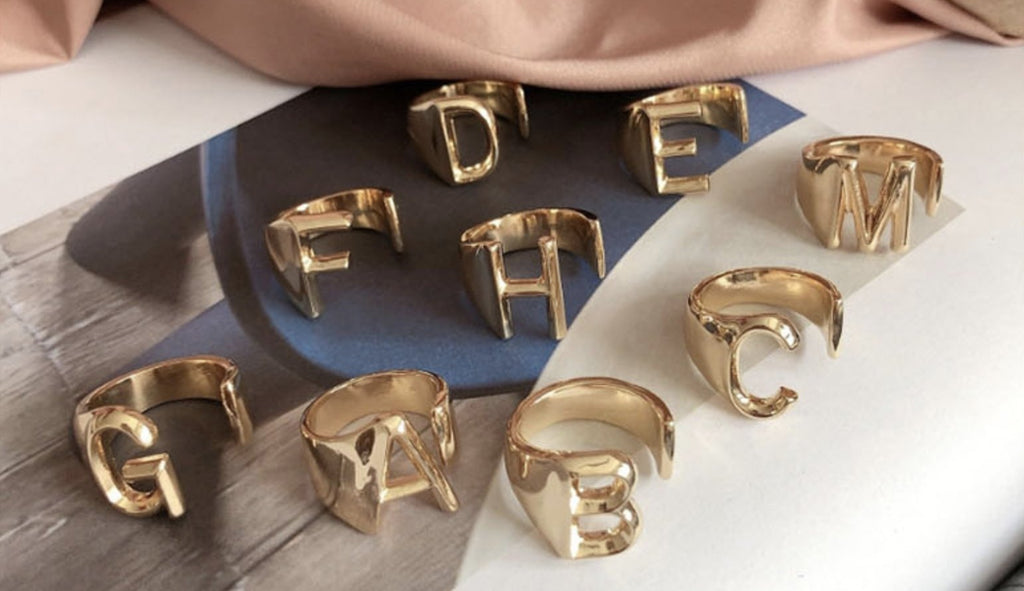 Gold Plated Initial Ring (Preorder) - Bonafide Glam