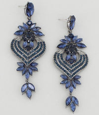 Jeweled Flower Earrings - Bonafide Glam
