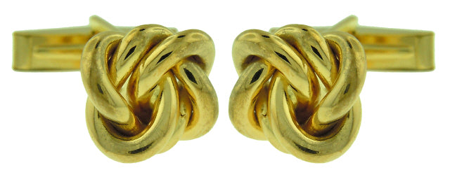 18KT YELLOW GOLD KNOT CUFFLINKS