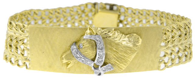 14KT YELLOW GOLD DIAMOND HORSE ID TYPE 8