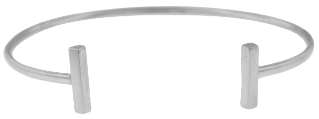 14KT WHITE GOLD CUFF BANGLE BRACELET.