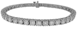 18KT WHITE GOLD 4-PRONG DIAMOND TENNIS BRACELET