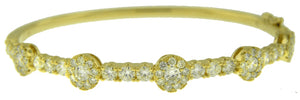 18KT YELLOW GOLD DIAMOND BANGLE BRACELET